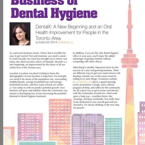 DentalX article in Oh Canada! Magazine