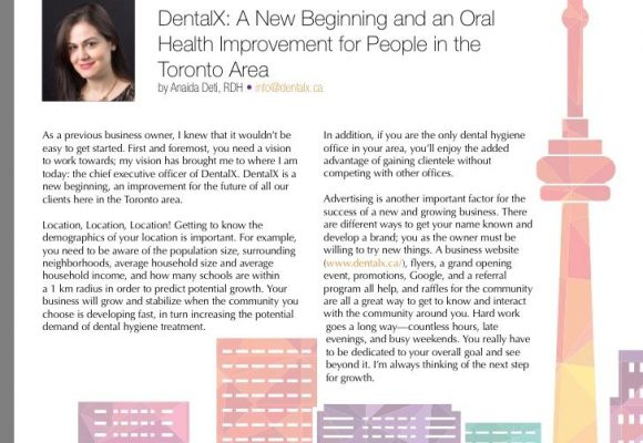 DentalX article in Oh Canada! Magazine