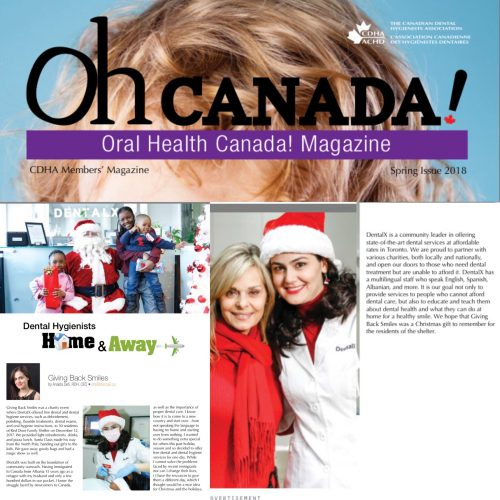 DentalX in Oh Canada! Magazine