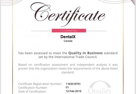 Quality in Business Certificate by the International Trade Council