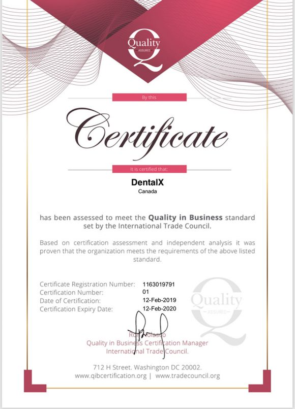 business quality certificate