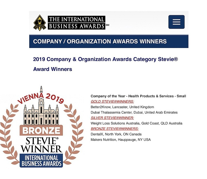 Stevies 2019 Company of the year award winners