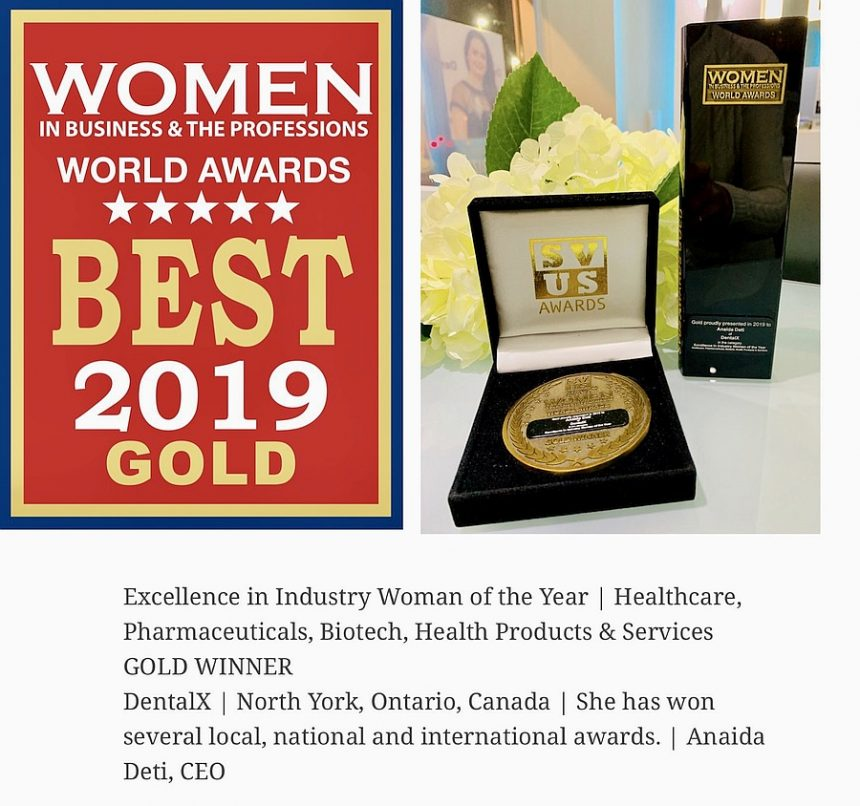 Best 2019 Gold Award for Excellence in Dental Industry