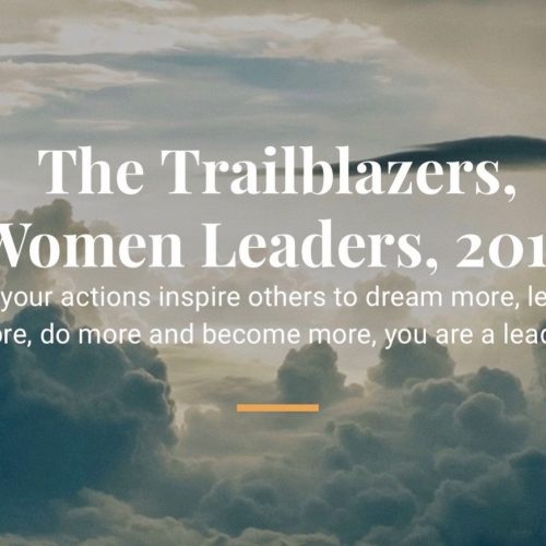 Anaida Deti featured in Aspioneer The Trailblazers, Women Leaders, 2019