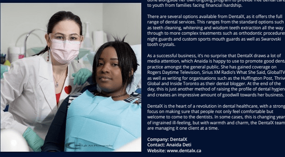 Dentistry with a Difference – Corporate Vision Magazine