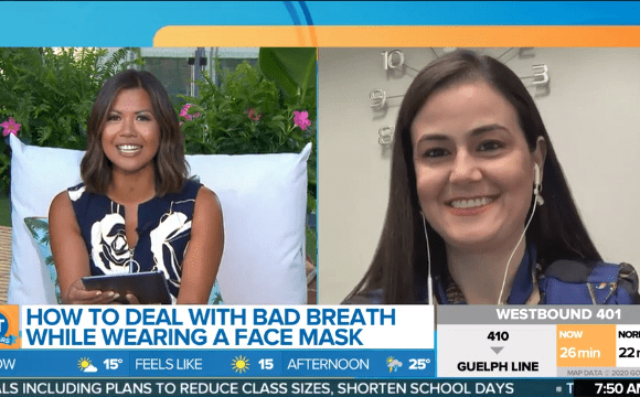 Breakfast Television – How to deal with bad breath when wearing a mask