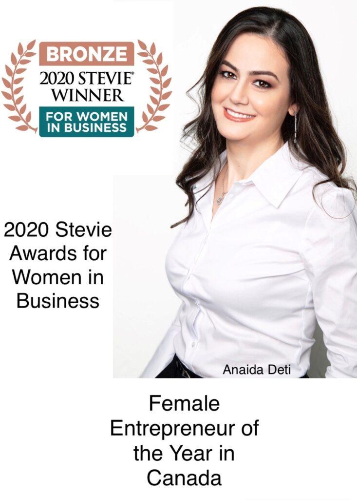 Anaida female entrepreneur of the year 2020